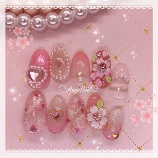 #サクラネイル#桜ネイル#春ネイル2020  #コロナウイルスが早く終息しますように #春 #ハンド #フラワー #ピンク #AngeNail #ネイルブック