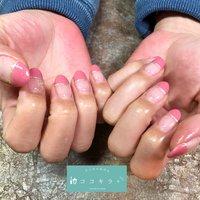 春らしいピンクで季節感を😊✨ #春 #オールシーズン #ハンド #シンプル #ワンカラー #ピンク #ジェル #お客様 #cocokira #ネイルブック