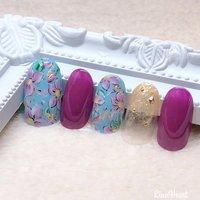 new sample💓 #nails #naildesign #nailart #nailstagram #ネイルアート#春ネイル#フラワーネイル#イメージネイル#モチーフネイル#ブロッキングネイル#推しネイル#仙台ネイルサロン #高橋 #ネイルブック