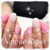 #ハンド #ピンク #Nail de Repos〜ルポ〜 #ネイルブック