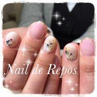#ハンド #押し花 #Nail de Repos〜ルポ〜 #ネイルブック