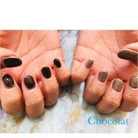 #アシンメトリーネイル #ニュアンス #ブラウン #グレージュ #chocolat214 #ネイルブック