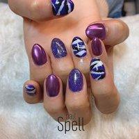 camouflage💅 ︙ #gelnail#gel#nailspell#nailstagrame #nailsalonspell #nails #春ネイル#ネイル#手描きアート#ジェルネイル#ネイルデザイン#迷彩ネイル#ネイルブック #kokoist#上田市ネイルサロン#purplenails #パープルネイル#カモフラネイル #nailSpell_azusa #ネイルブック
