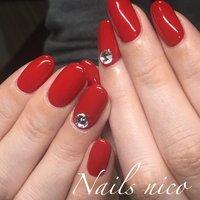 #ワンカラー #水戸市ネイル&スクール Nails nico #ネイルブック