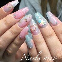 #ゆめかわネイル #キキララ #キキララネイル # #水戸市ネイル&スクール Nails nico #ネイルブック