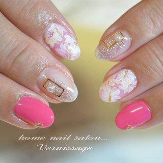 #桜 #桜ネイル #春ネイル #ピンクネイル #フラワーネイル #オトナ女子ネイル #春 #入学式 #vernissage_nail #ネイルブック