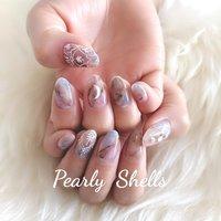 #ハンド #pearly.shell.s #ネイルブック