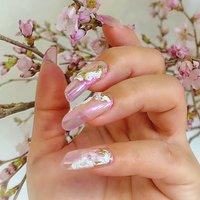 #春 #夏 #ハンド #ニュアンス #オーロラ #ミラー #ロング #ピンク #スカルプチュア #お客様 #Nailist maki #ネイルブック