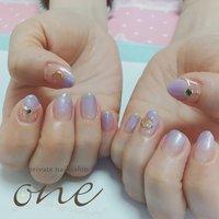 セーラームーン #春 #オールシーズン #グラデーション #星 #パープル #private nail salon one #ネイルブック