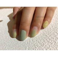 #秋 #冬 #デート #女子会 #ニュアンス #イエロー #nail.leaf【リーフ】 #ネイルブック