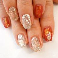#ミラーネイル#赤#キラキラ #ブライダルネイル #かわいい #ange nail salon #ネイルブック