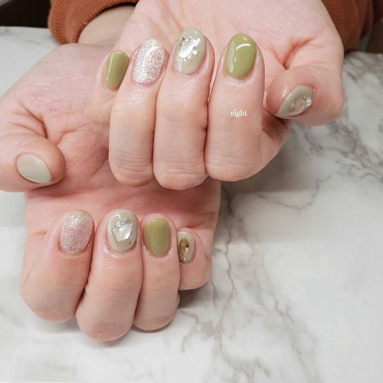 ミントグリーンが可愛すぎて🥺たまらない🙊  #和歌山市ネイル#お洒落ネイル#グリーンネイル#ショートネイル #Private nail salon eight #ネイルブック