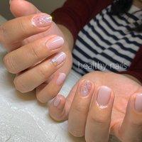 #春 #夏 #オールシーズン #オフィス #healthy nails #ネイルブック