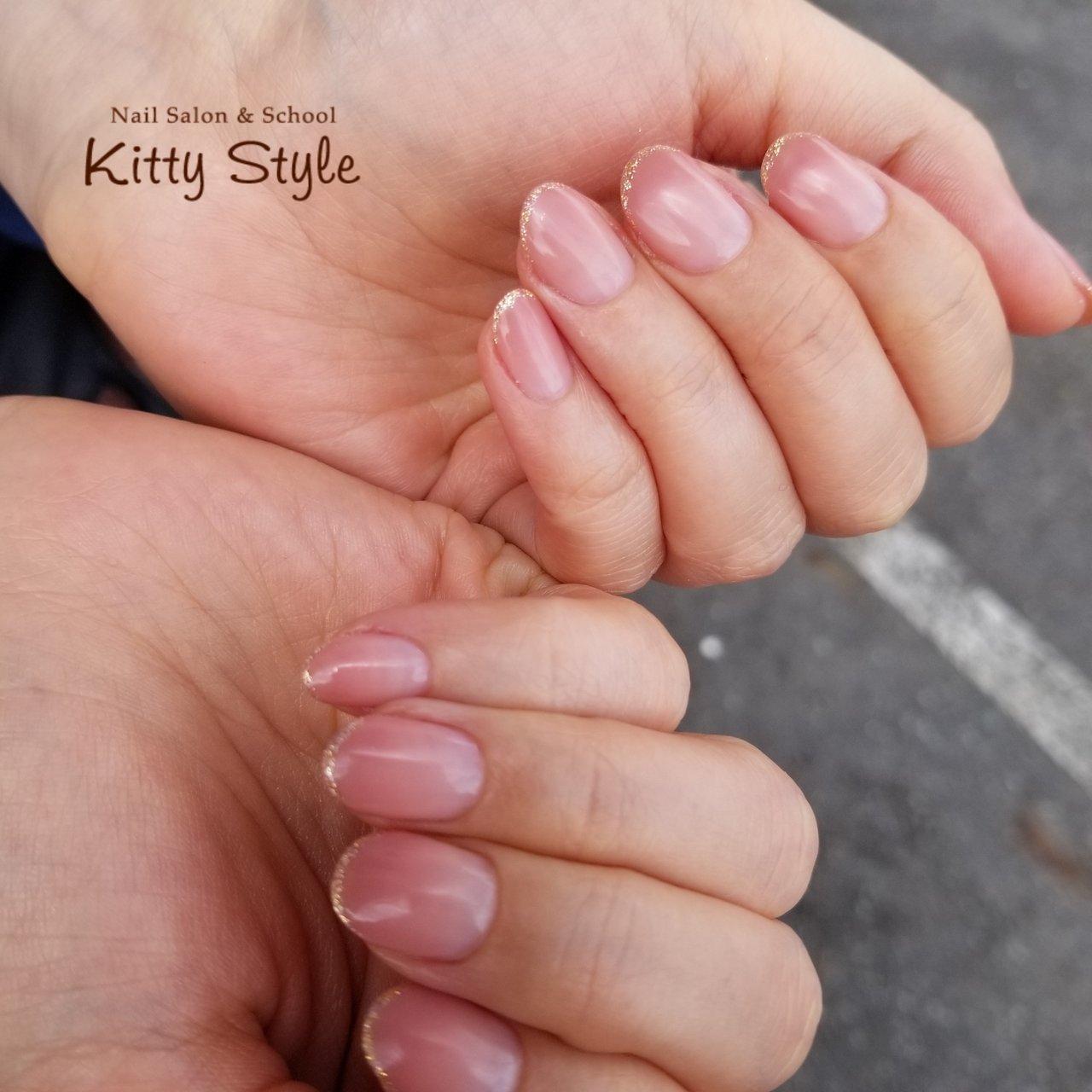 #ピンクネイル #ハンド #ピンク #kittystyle #ネイルブック