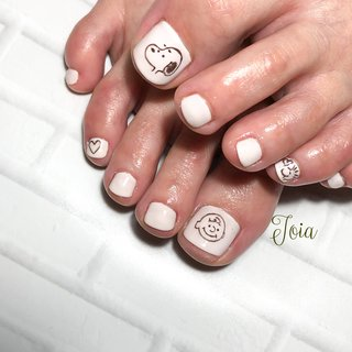 #snoopy #footnail #nail studio+school Joia #ネイルブック