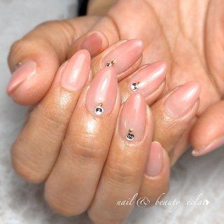 #サーモンピンク #グラデーション #オフィスネイル#春ネイル#シンプルネイル #nail & beauty éclat❥ #ネイルブック