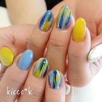 #ライムイエロー おかわり(*>∀<)ノ゛  ブルーと合わせたい✨ とのオーダーに  #yukimi先生  #towani 風😉  #coolnails #nail #nails #nailsalon #instanails #nailswag #nailstagram #nailart #naildesign #gelnails #manicurist #ネイル #ネイルデザイン #大人ネイル #ジェルネイル #ネイルサロン #八潮市 #八潮ネイル #八潮ネイルサロン #足立区ネイルサロン#北千住ネイルサロン #六町ネイル #三郷ネイル #草加ネイル #自宅サロン #kicco_k #春 #夏 #デート #女子会 #ハンド #ニュアンス #ミディアム #イエロー #ブルー #シルバー #ジェル #お客様 #kicco_k.nail #ネイルブック