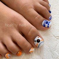 #オールシーズン #フット #キャラクター #healthy nails #ネイルブック