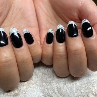 個性的な大理石フレンチ #nail#nails #nailart #nailart #nailsalon #gel#gelnails #gelart #geldesign#ネイル#ネイルデザイン#ネイルアート#ジェル#ジェルデザイン#ネイサロン#プライベートサロン江南 #江南市ネイルサロン #yuka943069 #ネイルブック