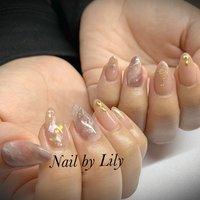 #ニュアンス#天然石 #LILY #ネイルブック