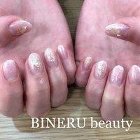 春らしくピンクのキラキラネイル🌸✨ #春ネイル #ピンクネイル #シェルネイル #BINERU beauty #静岡ネイルサロン #BINERU beauty #ネイルブック