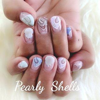 スプリングネイル🌼 #スプリングネイル  #くすみカラー  #フレンチ #ハンド #pearly.shell.s #ネイルブック