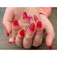 #スカルプ #グラデーション #ビビット #Nail Salon Rose,h #ネイルブック