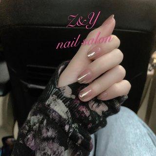 #シンプル可愛いネイル💅#春 #春 #オフィス #デート #女子会 #ハンド #シンプル #ミラー #ショート #ピンク #ゴールド #ジェル #ネイルモデル #Z&Y nail salon #ネイルブック