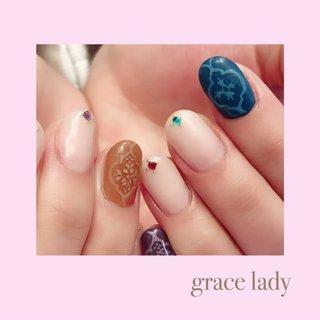 #エスニックネイル #nailsalon&school grace lady(グレースレディ) #ネイルブック