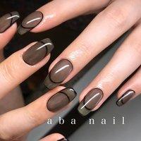 _  いつもありがとうございます!✨ #シンプルネイル#nail#nails#名古屋ネイルサロン#nailstagram#eye#美甲#個性派ネイル#ニュアンスネイル#名古屋サロン#blue#art#artwork#artist#artistry#artworks#ネイル#art#nailfashion#nailscompetition#competition#instagood#instafashion#instapic#個性的ネイル#ネイル サロン #春 #夏 #オールシーズン #ハンド #シンプル #フレンチ #ワンカラー #ミディアム #ブラック #モノトーン #ジェル #tae_nail #ネイルブック