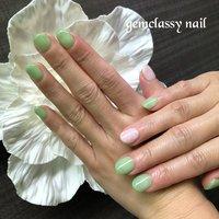 ココイスト新色カラーと フラワーアート! いつもありがとうございます!😊 #春 #夏 #ハンド #フラワー #グリーン #ジェル #gemclassy2017 #ネイルブック