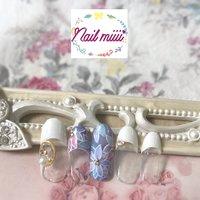 春っぽいFlowerネイル💅 #春 #パーティー #デート #女子会 #ハンド #ピンク #水色 #パステル #KISS NEW YORK ネイルチップデザインコンテスト #nail miiii #ネイルブック