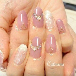 落ち着いたピンク とトレンドのシェルネイルです💅オールシーズンかわいいネイルです(^^)ありがとうございました😊 #落ち着いたピンク#トレンド#ピンク#しぇる# #Catnana #ネイルブック