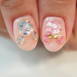 #ワイヤーネイル #ディズニーネイル#ミッキー #ミニーネイル #ブライダルネイル #ピンク #ange nail salon #ネイルブック