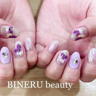 春ネイル💅🌸💕 #パンジーネイル #春ネイル #フラワーネイル #BINERU beauty #静岡ネイルサロン #BINERU beauty #ネイルブック