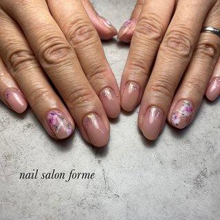 #桜#ピンク#春 #Nailsalon- forme #ネイルブック