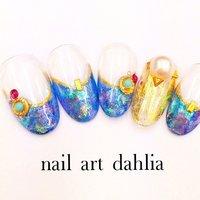 #Nailbook #nail_art_dahlia #ネイルブック