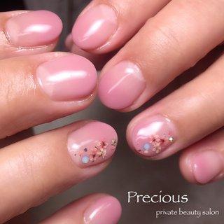. . マダムの春ネイル😘 . . . . Precious 048-915-5205 . #Precious#privatebeautysaron#越谷ネイルPrecious#定額制#ネイルサロン#越谷#新越谷Precious#ピンクネイル春#上品ネイル#春ネイル2020#押し花ネイル2020#koshigaya#saitama#nail#NAIL#cute#flower nails#spring nails #Precious 〜プレシャス〜 #ネイルブック