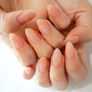 #クリアネイル#ワンカラー#し #ange nail salon #ネイルブック