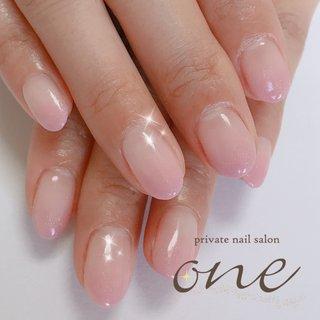 ライトパープル#カラグラ#コロナ対策 #春 #オールシーズン #グラデーション #パープル #パステル #private nail salon one #ネイルブック