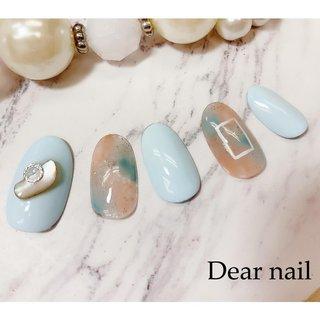 #ネイルチップ パステル水色とオレンジを入れたタイダイ☆°。⋆⸜(* ॑꒳ ॑* )⸝ オレンジ🍊と水色🚰の 組み合わせ好きなんです (*´ω`*ノノ☆パチパチ  薬指の四角は手書きで描きました (✌'ω' ✌) #nail#nails#中村橋#中村橋ネイル#練馬ネイル#富士見台ネイル#練馬区ネイル#春ネイル#春ネイル2019#Dearnail#ネイルチップ販売 #水色ネイル#カジュアルネイル#タイダイネイル #タイダイ#ワンカラーネイル#シェルネイル  #定額デザイン🅰️ #夏 #海 #リゾート #オフィス #ハンド #シェル #タイダイ #ショート #オレンジ #水色 #ジェル #ネイルチップ #鈴子 #ネイルブック