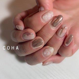 ミラーとニュアンス♡ #おまかせデザイン #COHA nail and art #ネイルブック
