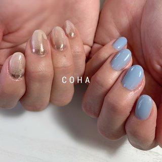 きれい目アシメ♡ #おまかせデザイン #COHA nail and art #ネイルブック