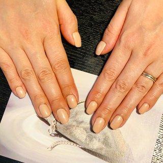手が綺麗に見せる1カラーです♪  #ワンカラー #ピンクベージュ#スクエアオフ#ハンド#シンプル#巣鴨#ジェルネイル#オールシーズン #オールシーズン #ハンド #ワンカラー #ミディアム #ベージュ #ジェル #セルフネイル #えがお爪工房 #ネイルブック