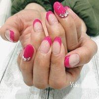 #フレンチネイル #ハンド #シンプル #フレンチ #ピンク #お客様 #yuki #ネイルブック