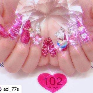 #Repost @aoi_77s with @make_repost ・・・ かわいー💕むりー💗 ・ ・ ・ #ネイル #ギャル #ギャルネイル #スカルプネイル #かわいい #いいね返し #いいね返しは絶対 #いいねした人で気になった人フォロー #love #cute #nail #instagood #NAILSGOGO shibuya nailsalon #ネイルブック