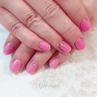 #ピンク #シルバー #api_nail #ネイルブック
