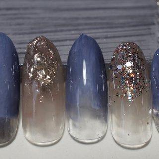 #ホログラム #ミラー #ブルー #ネイビー #シルバー #埼玉県上尾市jewel nail #ネイルブック
