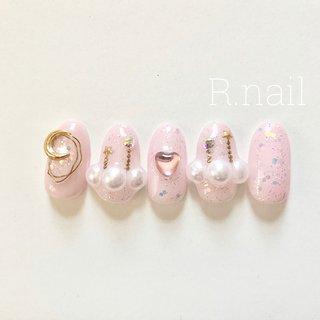 #ゆめかわネイル #ラブリーネイル #ハートネイル #ピンク #パール #ワイヤーネイル #nail salon R #ネイルブック