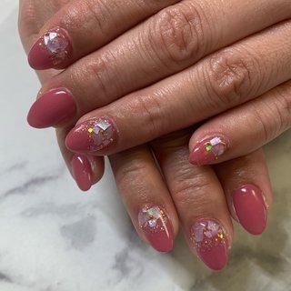 #agehagel#春ネイル#桜#オフィスネイル#上品ネイル#青森市ネイル #青森ネイルサロン #ピンク #private nail space colorer #ネイルブック